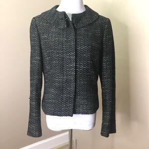 Calvin Klein Black White Tweed Style Blazer Jacket